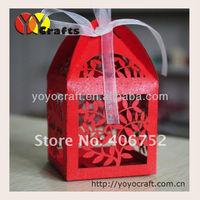 free shipping! laser cut mini wedding favor cake box