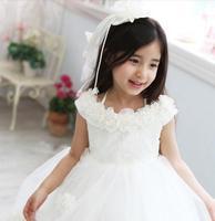 Girls wedding dresses chilren ball gown female child clothings girl princess dress white big girls evening dresses