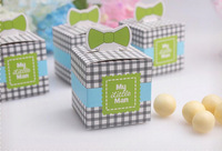 "70pcs/lot 2014 New ""My Little Man"" Wedding Candy Box Gift Packaging Chocolate Box Favors Wedding favors"