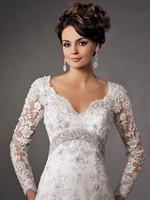 New Arrival V Neck Vintage Lace Long Sleeve Wedding Dresses Backless vestido de noiva
