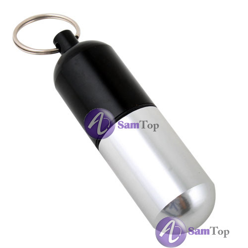 bestMart Unique Aluminum Pill Box Case Bottle Holder Container Keychain Latest!(China (Mainland))