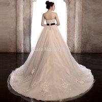 2014 long trailing tube top brief bandage wedding dress slim big train