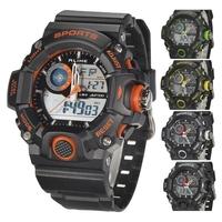 2015 New Luxury Brand Alike Watches Men Outdoor Sports Military Analog Digital Waterproof Diver Day Date Alarm Quartz Wristwatch