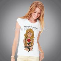 Nice Apple T-shirt New Design Fashion Women Short  Sleeve Tshirt Free Shipping Cotton Tshirt
