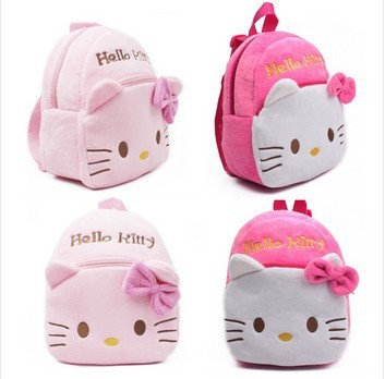 Free drop shipping Children kids baby school bags cute infant walking wings backpacks Hello Kitty girls bags 1-5Y(China (Mainland))