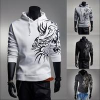Fashion Printing Hoodies Men Spring 2014 Fashion New Men's Slim Fit Sweater Mens Pullover Man Hoody Sport Suit Jacket