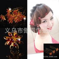 Korean wedding bride headdress hairpin hair hair flowers married other new bob hair fork wholesale