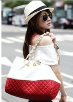 2015 New Design Fashion women's handbag plaid material women  messenger bags casual bag  6600