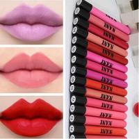 36 Colors Optional Matte Lip Gloss Water Resistant Velvet Lipsticks Lapiz labial Women Girls 25g Tube Lip Sticks