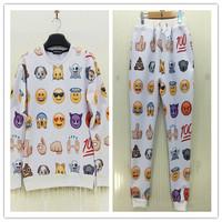 Fashion Women Pants emoji joggers Clothes New 2014 Autumn Casual Women's emoji Pants sports trousers Women Harem Sweatpants