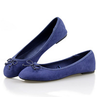 2015 NEW EUR 35-41 Bow Lady Fashion shoes for Women flat shoes & Beige