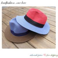 LeadFashion Sombrero Chapeu Panama Foldable Hats Wide Brim Large Fan Bowknot Cap Floppy Hat for Women Atacs fg