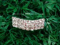 20mm inner bar 20pcs Wedding Craft Buckle,Diamante Rhinestone DIY Sliver Bridal Napkin Ring Buckle Invitation Supplies A18