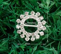 20pcs Wedding Craft Buckles,Diamante Rhinestone DIY Ribbon Sliver Bridal Napkin Ring Buckle Invitation Supplies A21(10mm inner)