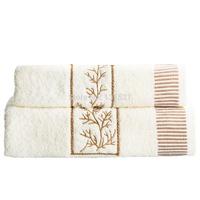 2pcs/lot Face Hair Hand Towel(45x90cm)+Bath Towel(65x135cm) Towel Set 100% Cotton Embroidery  Washclothes