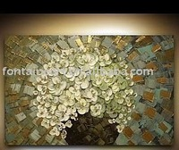 Textured Modern Flower canvas Painting,free shipping