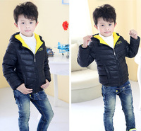 Free shipping 2014 Kids boys Winter/Spring clothes boy down coats children outerwear B4633