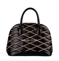 High Quality Sheepskin Shell Bag Women Handbag Quilted Threads Fashion Bag Free Shipping
