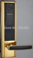 24K Plating 5 Stars Hotel Door Lock