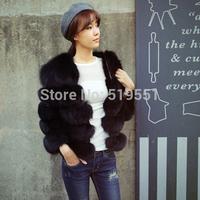 2014 New Fashion Short Natural Fox Fur Winter Warm Coat For Women Real Fur Jacket 20130912-2