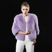 2014 Hot Sale Fashion Three Quarter Fox Fur coat Women Fur Overcoat Outerwear Coats Cultivate one's morality fur coat