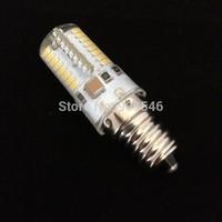 Free DHL 50PCS/Lot E12 LED Bulb 64X3014SMD Leds 500 Lumens LED Bulb Input 110V 220V SMD Bulb LED
