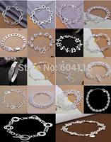 A44 // wholesale fashion 925 jewelry silver plated Bangle Bracelet ,Big promotion popular Factory Price hot sale Bracelets Chain