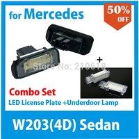 Freeshipping LED License Plate Lamp for Mercedes Benz W203 Sedan 4 doors