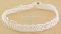 Porcelain white  Tattoo Choker Stretch Necklace Retro  Elastic Boho 90s 80s new hot