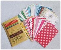 Free shipping Crafts Masking Sticker Set for DIY diary album scrapbooks - 10sets/lot LA0119B