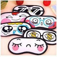 Cute Emotion Icon Design Plush Soft Travel Sleeping Eyes Mask / Eye Patch Cove Blindfold for Traveling Sleep 1pcs/lot
