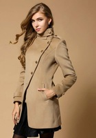 Brande design single breasted new 2013 military woman winter fashion wool coats,slim fit long sleeve women winter coat long