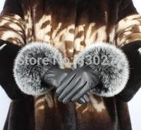 Tian Shun      Ms.   Oversized fox fur sheepskin leather gloves warm gloves    TS2-109