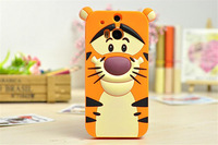MOQ 1pcs new arrival 3D cartoon animal Monsters  university silicone sulley tiger cases covers for HTC one M8  Free shipping