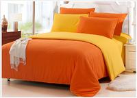Home textile, fashion color solid bedding sets 4pcs cotton bed linen duvet cover set 4pcs bed sheet set for queen size bed