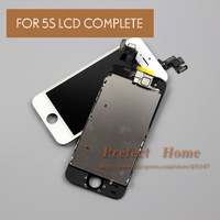 Free shipping  For iPhone 5S LCD Assembly and Touch Screen Digitizer +Home Button+Front Camera Complete