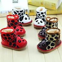 Cartoon Dalmatian spotty dog modelling children's snow boots for boys and girls winter plush keep warm
