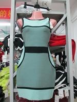 2015 Spring New Arrival European Brand HL Bandage Dress Sexy Elegant Slim Short Party Bandage Dress