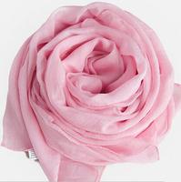 Chiffon and scarf pink