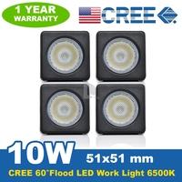 New 10W CREE LED Work Light Bar 800LM 6500K Modular FLOOD HIGH POWER REVERSE LAMP 12V/24V Offroad Light Car Boat SUV P0018433