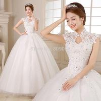 The wedding dress formal dress 2014 fashion lace bag wedding dress 2133