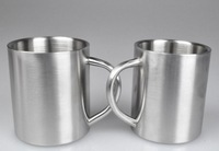 Double wall Stainless steel mug with handle milk coffee cup 220ml 200pcs