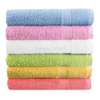 Bath Towel 100% Cotton 50x80cm 1 PCS/Lot 6 Color toalha de banho Free Shipping Towel Solid Plain Dyed Quick-Dry Face Towel Woven