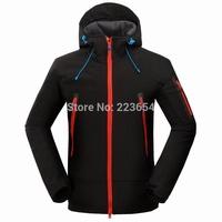 Brand men softshell fleece outdoor jackets waterproof windbreaker Hiking winter ski jackets Sportswear military outerwear coats