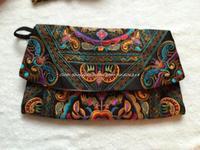 HOT! 2014 NEW National embroidery day clutch BAG bag double faced embroidered shoulder messenger bag women's cover handbag