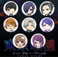 Hot Tokyo ghouls Buttons Ken Kaneki kirishima touka Head portrait Cosplay Anime Costumes Products Free Shipping