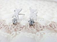Wholesale Gold SilverSilver Deer Post Stud earrings Jewelry best friend Birthday Gift