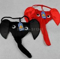 New Men G-String Thong Sexy Leopard Grain Elephant Pouch Underwear Novelty