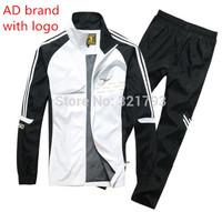 FREE SHIPPING,2014-2015 adid man sportswear tracksuit set jacket+pants,brand with logo men's leisure jogging suit set