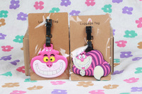 LOVELY Alice Cheshire cat  luggage tags/  Travel Name Tag A set